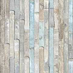 Beach Wood self-adhesive film is a collection of weathered colored planks combined together to create a beach hut pattern effect. An appliicator is incliuded in the package. The applicator ensures smooth and easy application. D-C-Fix self-adh...