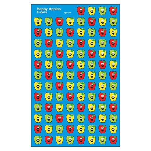 Trend Enterprises Happy Apples Super Shapes Stickers (800 Piece)