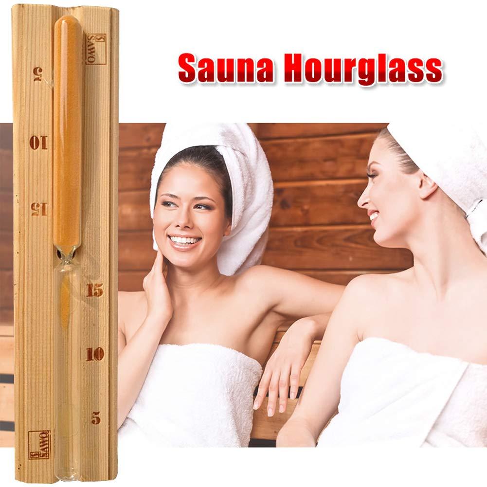 15 Minuten Sanduhr aus Holz f/ür die Sauna Countdown-Uhr Romdink Wand-Sanduhr f/ür die Sauna