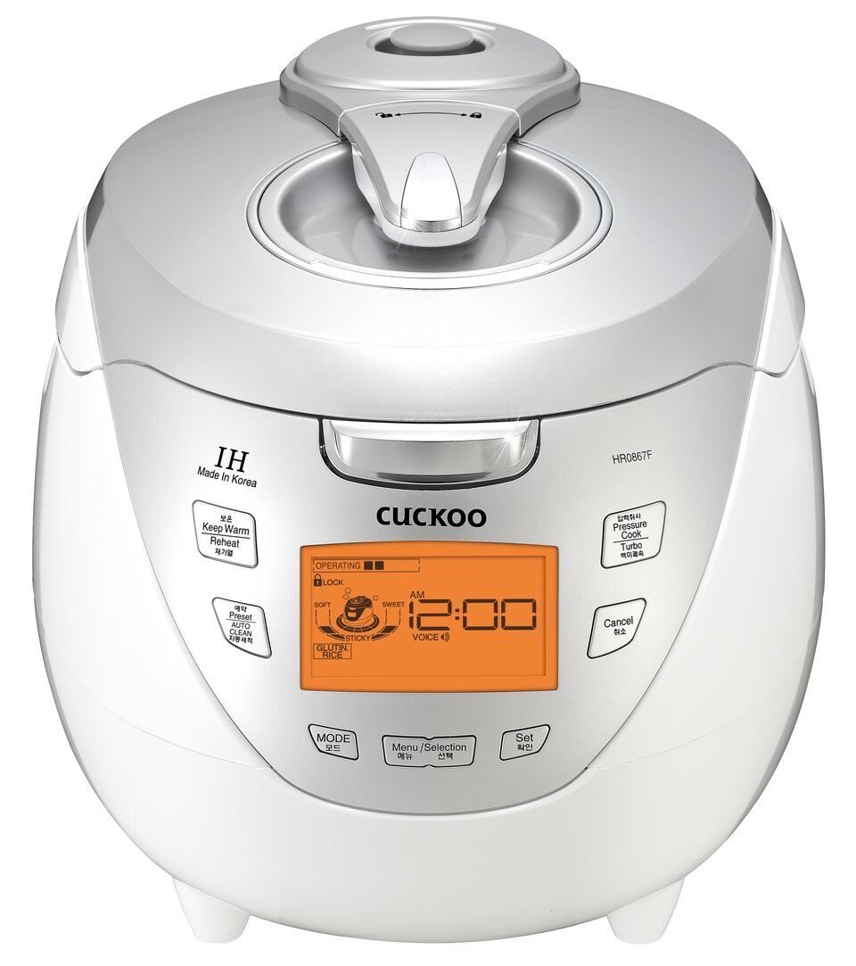 Cuckoo CRP-HR0867F Pressure Rice Cooker, 110V, Silver