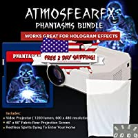 Atmostfearfx Phantasms SD Media Card Video Projector Bundle with Built media player. 1200 Lumen and 600 x 460 resolution