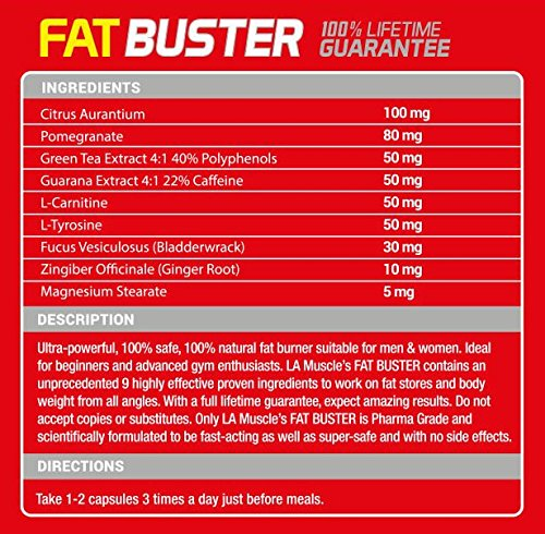 LA MUSCLE TWO MONTHS FAT BUSTER DEAL: FREE Fat Stripper, Pharma grade weight loss supplements