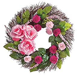 Rose and Berries Twig Wreath