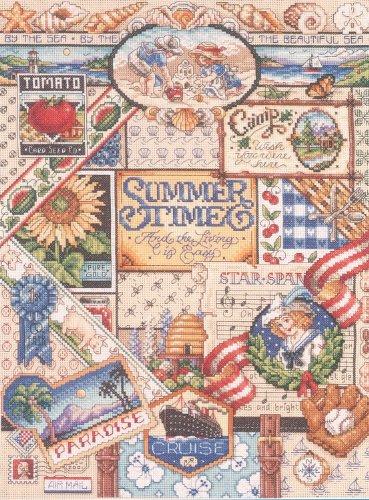Needlepoint Sampler (Janlynn Summer Sampler Counted Cross Stitch Kit)