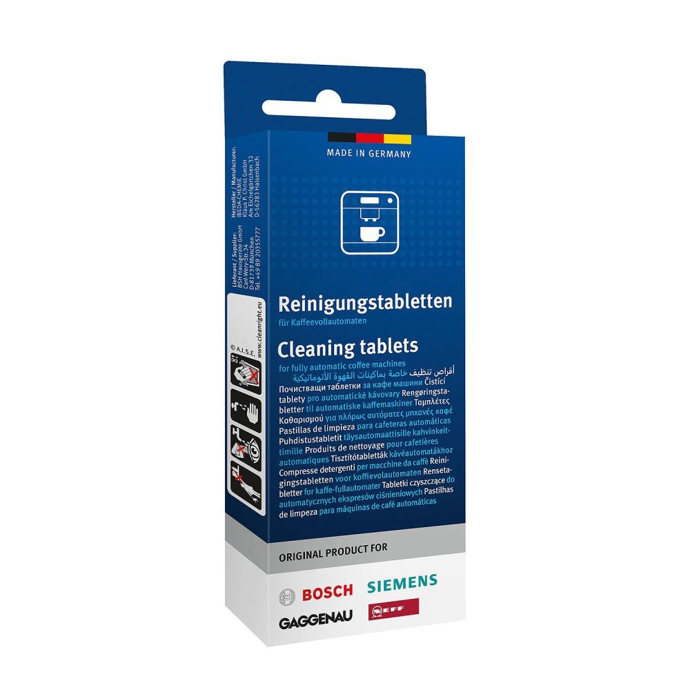 Cleaning tablets suitable for all fully automatic coffee machines and thermal flasks; contents: 10 tablets
