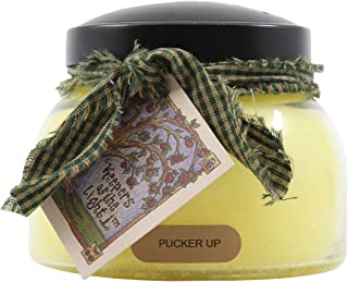product image for A Cheerful Giver Yellow Pucker Up 22 Oz Mama Jar Candle, Multi