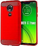 Moto G7 Power Case,Moto G7 Supra Case,HNHYGETE Soft Slim Shockproof Anti-Fingerprint Full Protective Phone Cases for…