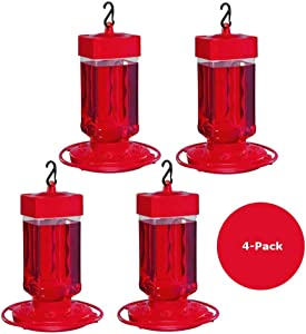 4-Pack First Nature Large Hummingbird Feeder 3055 32 oz.