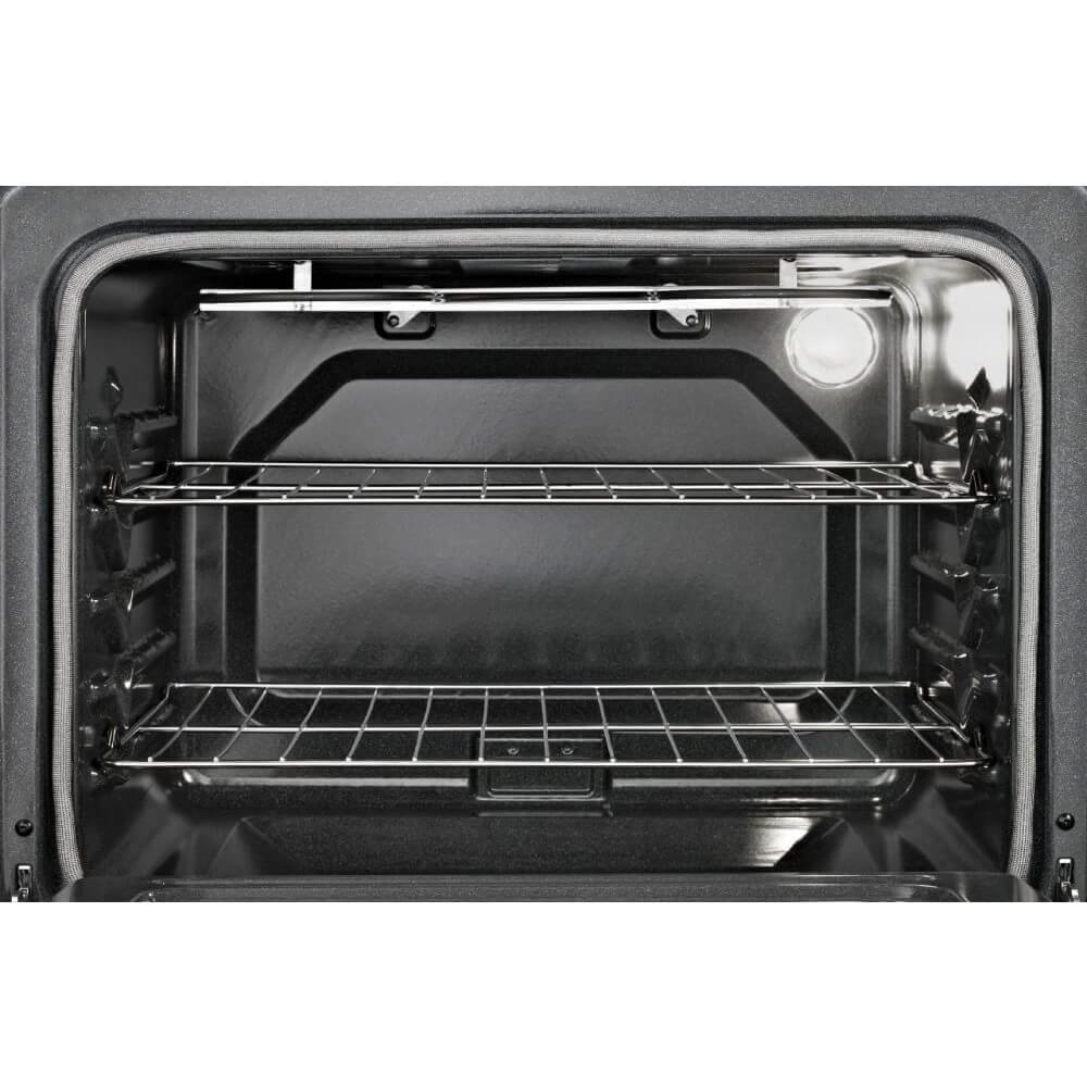 Whirlpool WFE515S0ES 5.3 Cu. Ft. Capacity Electric Range with Self-Cleaning System, 30'', Black/Stainless
