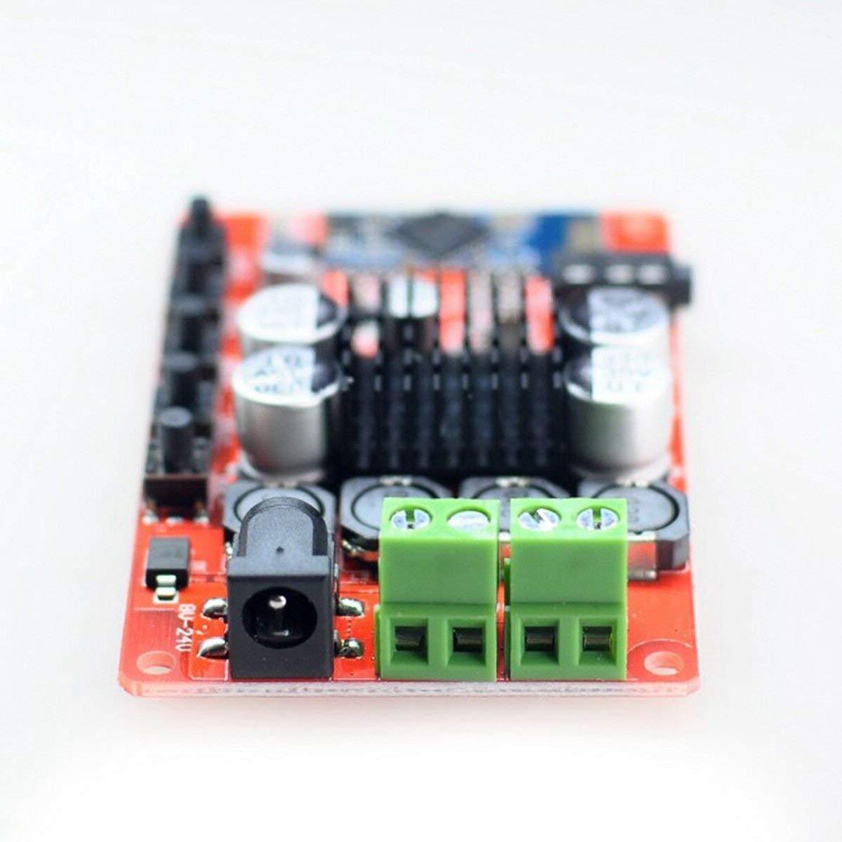 50 W Rosso e trasparente 50 W TDA7492P Modulo scheda amplificatore digitale audio wireless 4.0 professionale di piccole dimensioni con kit custodia