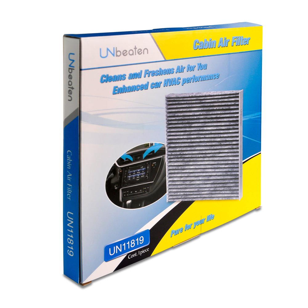 UNbeaten Cabin Air Filter UN11819 for Car Air Cleaning,Hepa with Activated Carbon Filters Compatible with Hyundai Sonata//GMC Terrain//Kia Optima//Chevrolet