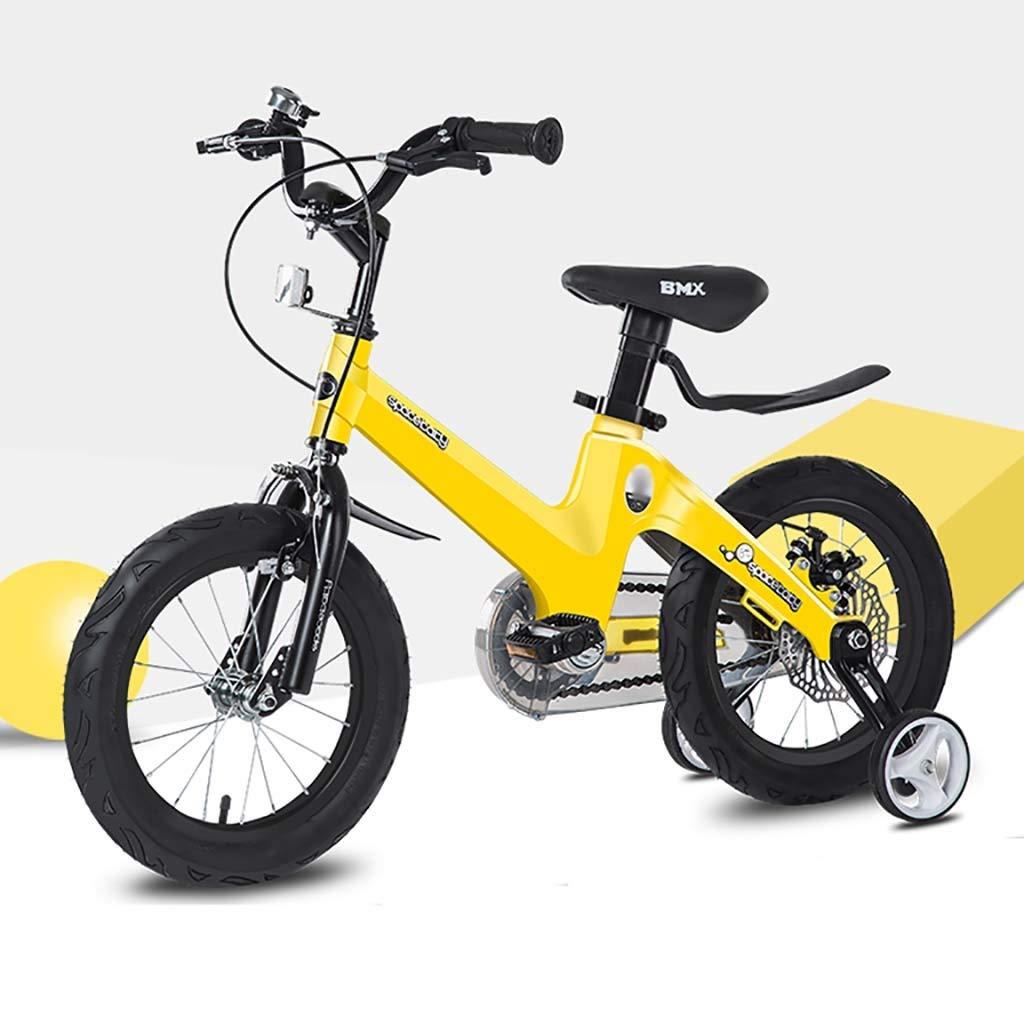 perfecto amarillo GAIQIN GAIQIN GAIQIN Durable Bicicleta para niños Bicicleta 3-5-7-10 años de Edad Baby Boy Boy Girl Control del Freno de Dos uomoos Seguridad (Color   oro, Tamaño   14inch) 12inch  barato