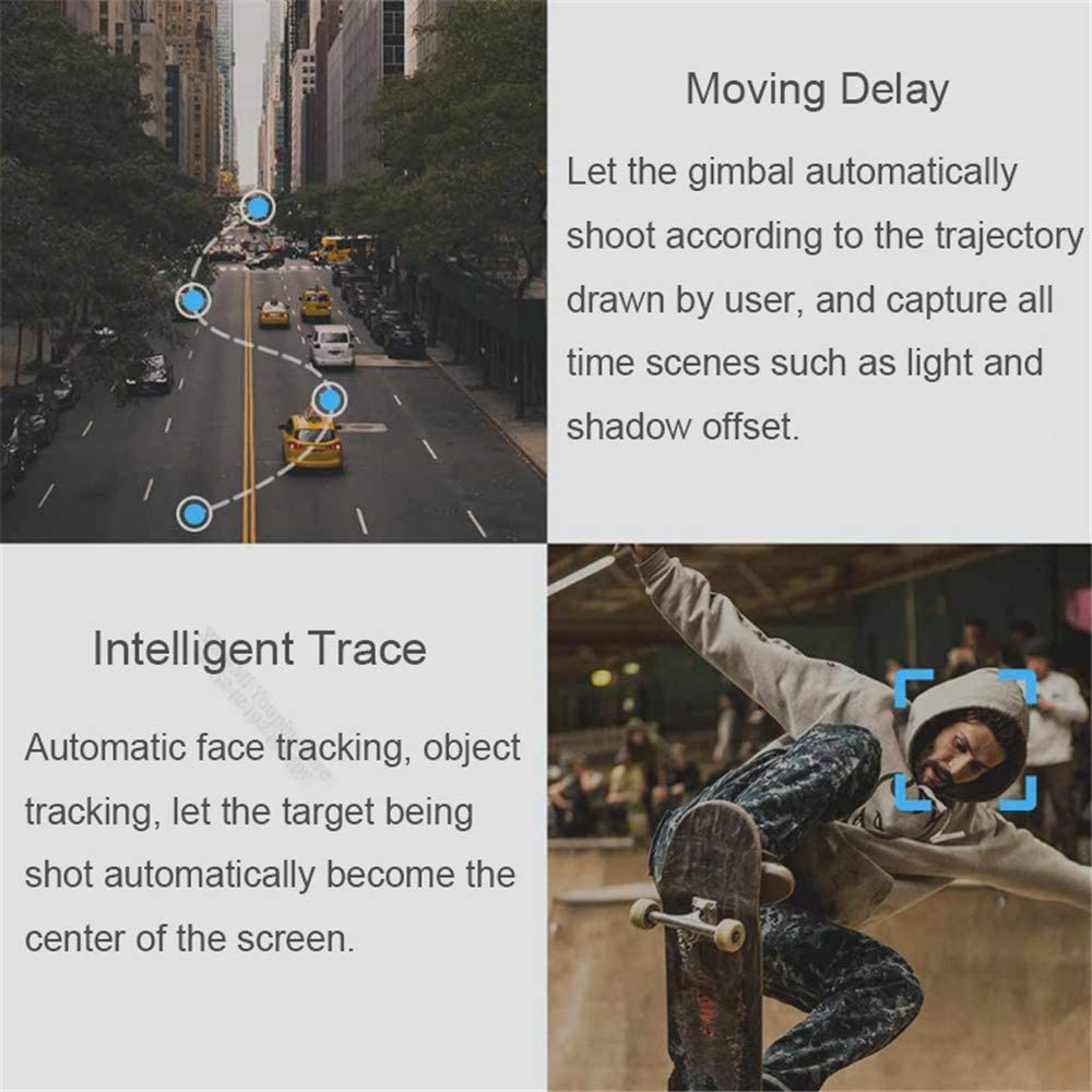 Xiaolizi Smart Foldable Mobile Phone Three-axis Stabilizer,Multifunction Intelligent Trace for Hiking Travel Shooting,Suitable for Smartphone.