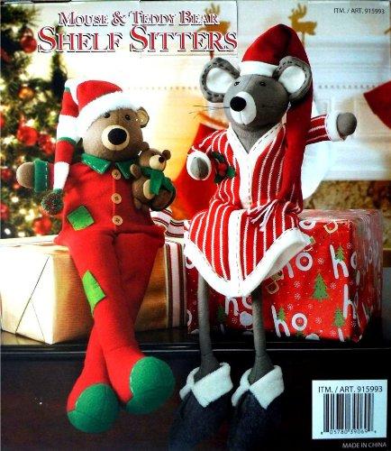 Mouse & Teddy Bear Shelf Sitters