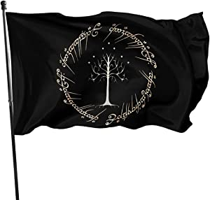 Qwertyi The Lord of The Rings Flag 3x5 Ft High Banner 100% Polyester Fiber is Used in Courtyards Gardens Flower Pots Etc Charming Decorations