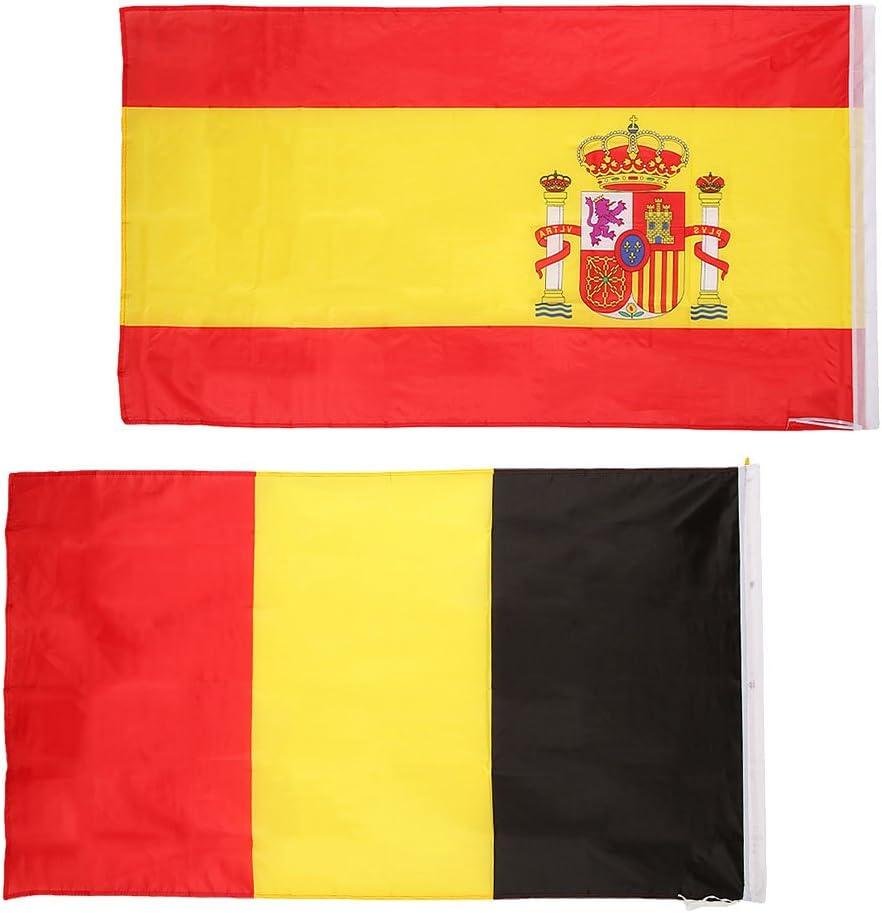 non-brand Banderas Nacionales de España y Bélgica Bandera de ...