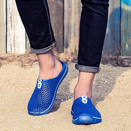 Men Breathable Couple Women Outdoor Shoes Unisex HLHN Sandals Beach Barefoot Drying Sport Out Blue Mesh Slippers Quick Hollow xqvfSfg7n