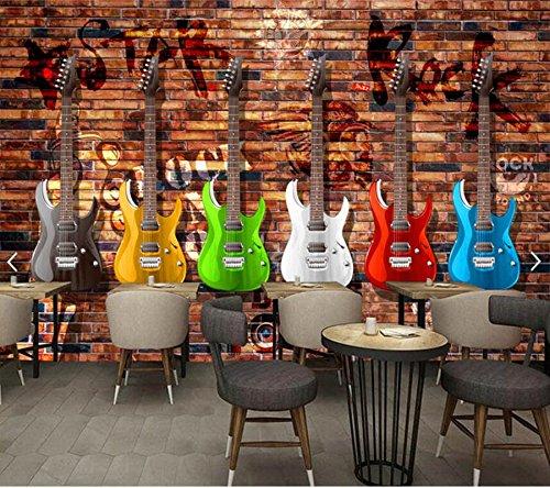 Izado Graffiti Wallpaper Retro, Murales De Pared De Ladrillo De Guitarra Eléctrica Para Ktv Bar Salón Antecedentes Papel De Parede: Amazon.es: Bricolaje y ...