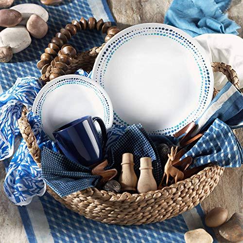 Corelle Livingware Ocean Blues 16-Piece Dinnerware Set - Ocean Blue Plate