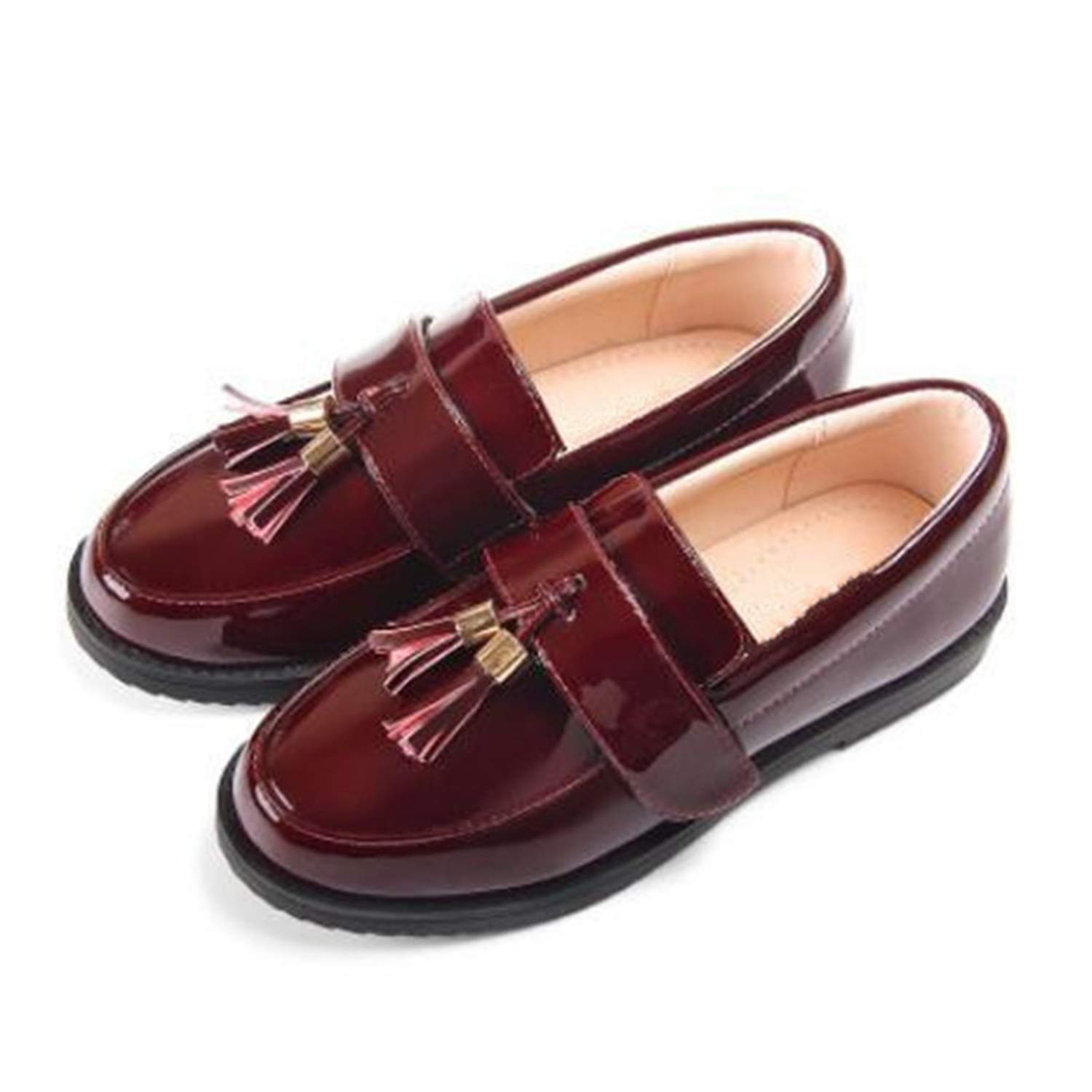 Michael Palmer Spring//Autumn Children Girls Leather Shoes Black Tassel Princess Shoes Student Loafers Baby Toddler Flats Kids Shoes
