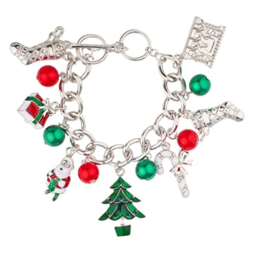Christmas Xmas Stocking Santa Claus Gift Tree Candy Cane Jingle Ball Charm.