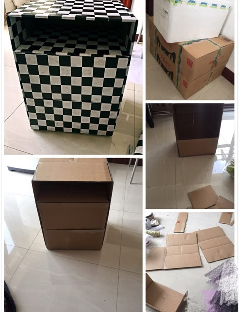 SimpleLife4U Black White Mosaic Contact Paper Removable Shelf Liner Drawer Sticker 17.7 Inch by 9.8 Feet Yifely 300705