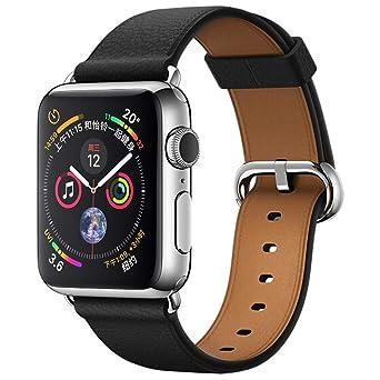 Bracelet de Montre en Cuir pour Apple Watch série 4 44MM Montres connectées