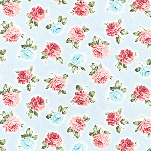 Rose Garden Fabric - Robert Kaufman Anna Garden Rose Spray