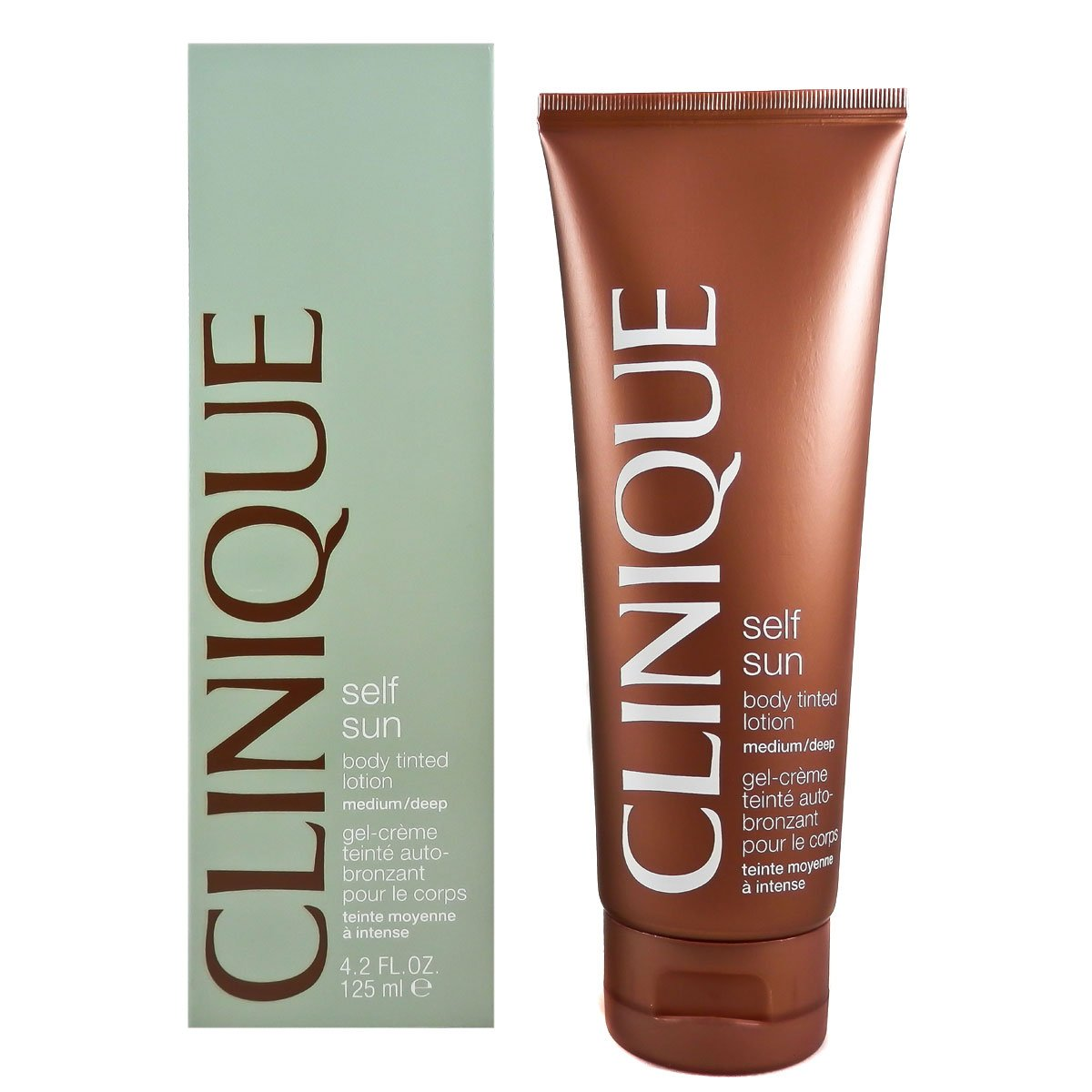 Clinique Self Sun Body Tinted Lotion for Women, Medium/Deep, 4.2 Ounce