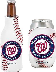 MLB Baseball Team Logo Bottle & Can Coolie Set 12oz Beverage Drink Holder Sleeve Cooler