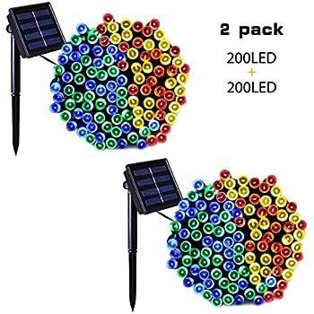 Amazon Com Binval Solar String Lights Multicolor For