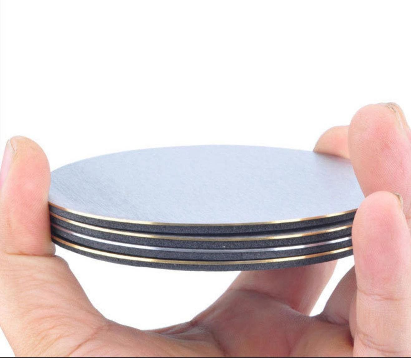 landtom Cup Coasters with holder, Prevent Stains and Scratches with Round Table Coasters For Glasses, Bar Drinks, Mugs, Coffee Cups, Tea, Wine, Beverages(set of 4)
