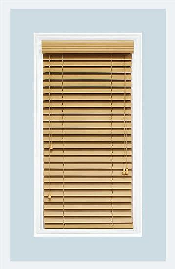 Amazon De Massgeschneiderte Faux Holz Horizontal Fenster