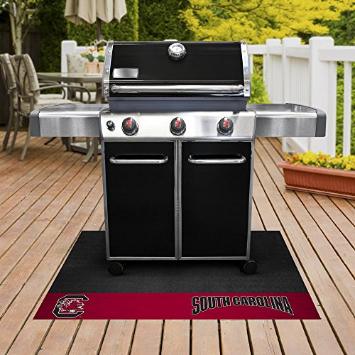 Fan Gear Fanmats University of South Carolina Grill Mat Size=26''x42'' NCAA-12130 by Fanmats