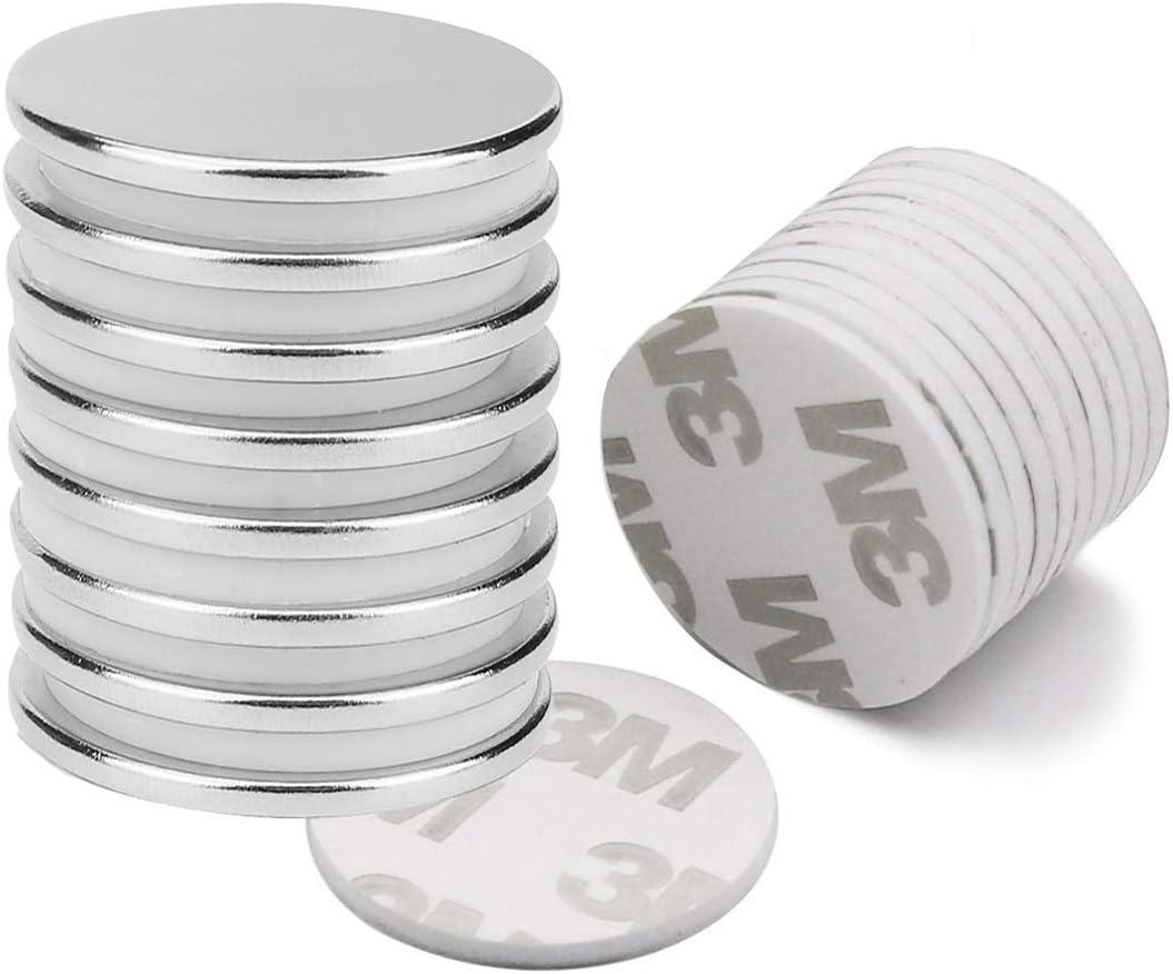 Notenmagnete,vernickelter Stahl Magnete Audamp Magnete magnettafel Neodym Magnete 18 St/ück Magnet Magnete stark pinnwand magnettafel mit Aufbewahrungsbox f/ür Magnettafel K/ühlschrank Kegelmagnete