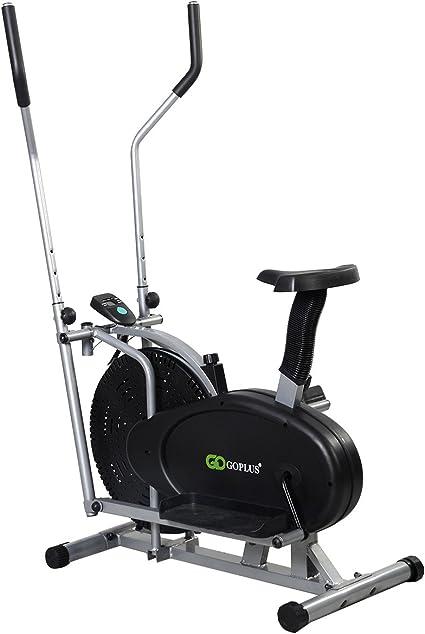 FDS 2-en-1 ventilador elíptica bicicleta estática Fitness Cardio Workout Sports máquina: Amazon.es: Deportes y aire libre