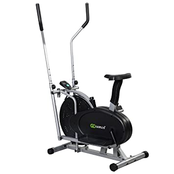 FDS 2-en-1 ventilador elíptica bicicleta estática Fitness Cardio Workout Sports máquina