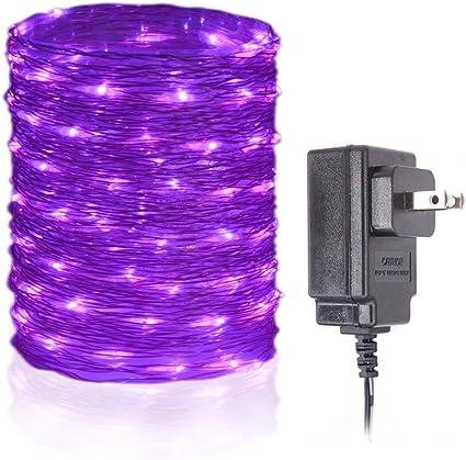 Amazon.com: HAHOME - Guirnalda de luces impermeables, 100 ...