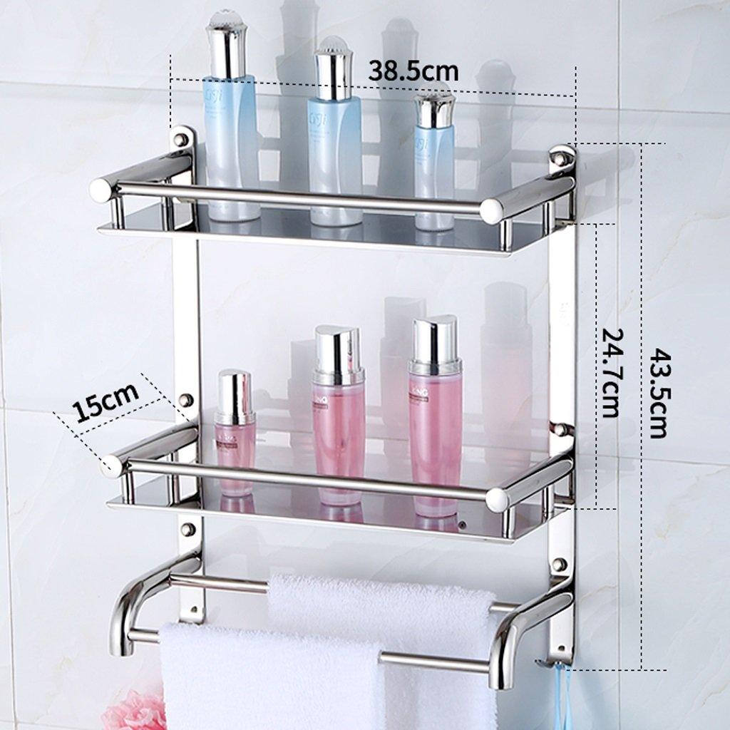 二階バスルームラック、304ステンレススチールウォールマウント、タオルラックL30CM ( サイズ さいず : 40 cm 40 cm ) B077C4X6H340 cm 40 cm