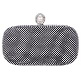 Fawziya Pearl Purse Bling Box Crystal Rhinestone Clutch Evening Bag