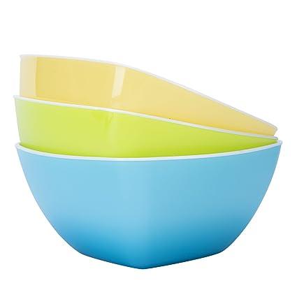 Plastic Bowls Wecye Bpa Free Kicthen Fruit Bowl Salad Bowl Mixing Bowls Cereal Bowls Candy Dish Set Of 3 Small
