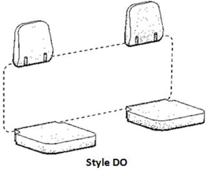 Covercraft SeatSaver Second Row Polycotton Charcoal SS8486PCCH