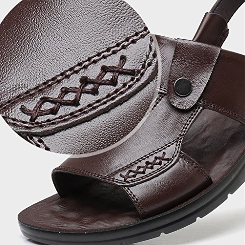 zapatillas de antideslizantes Color suaves 44 WeiLuShop Sandalias Size Brown para Brown 10uk hombres de verano playa ocasionales vxYqPB0