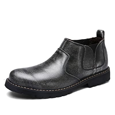 Aaron Men's Driving Shoes Premium Genuine Leather Fashion Slipper Casual Slip On Loafers Shoes