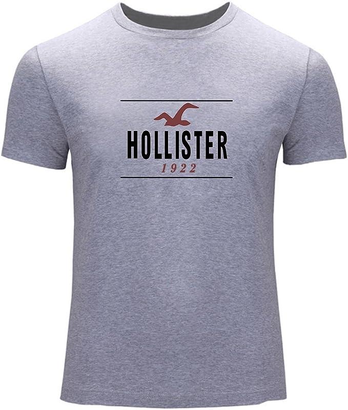 Hollister 1922 Logo Tees Mens Printed Short Sleeve t shirts: Amazon.es: Ropa y accesorios