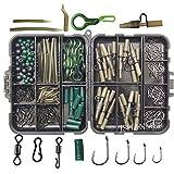 JSHANMEI Carp Fishing Tackle Kit Box Lead Clips/Beads/Hooks/Tubes/Swivels Baiting Terminal Rigs Carp Tackle Box