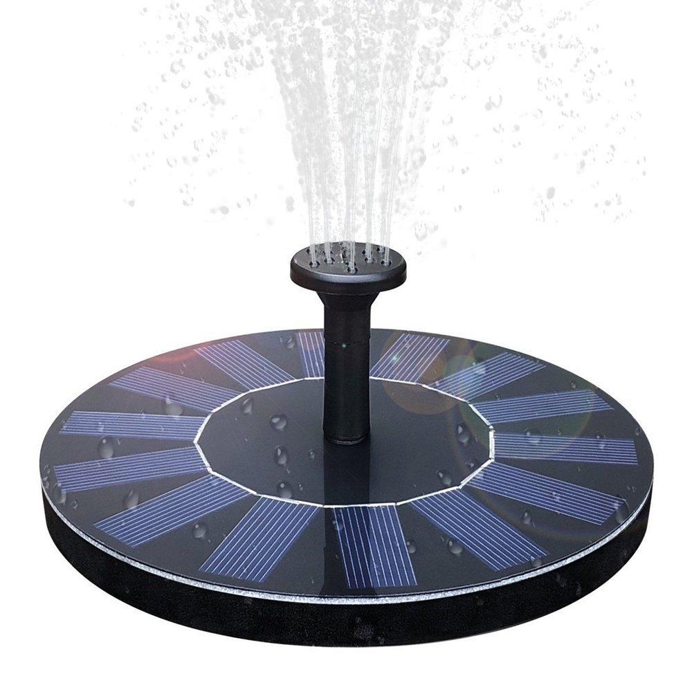 DOULINE Solar Birdbath Fountain Solar Fountain, 1.4W Solar Panel Kit Water Pump,Outdoor Watering Submersible Pump for Fish Tank,Garden by DOULINE