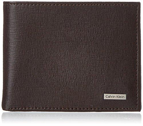Calvin Klein Men's Calvin Klein Passcase Wallet, Brown, One - Klein Jewellery Calvin