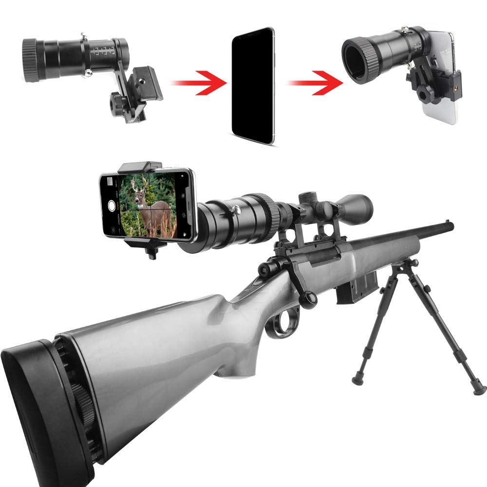 SOLOMARK Rifle Scope Smartphone Adapter, Quick Telescopic Focus Adjuster and Wrap Gun Scope (Out Diameter of Eyepiece Within 37-46mm) Adapter Record Hunting Moment by Phone by SOLOMARK