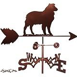 Hand Made AUSTRALIAN SHEPHERD DOG GARDEN Stake Weathervane ~NEW~